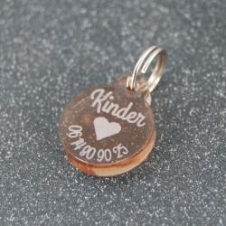 Médaille ronde coeur bronze PM