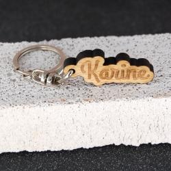Porte clés prénom hêtre