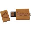 Clés USB 8GO bois coeur
