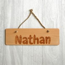 Pancarte prénom bois