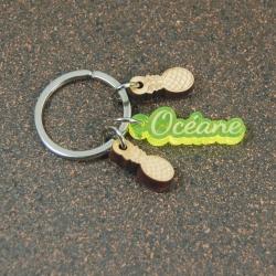 Porte clés breloques ananas