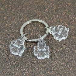 Porte clés breloques trio de coeurs