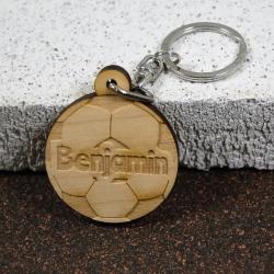 Porte clés foot érable