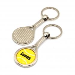 Porte clés métal tennis