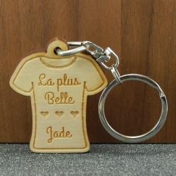 """Porte clés message """"belle"""""""