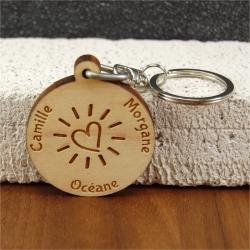 Porte clés érable coeur étincelant