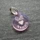 Médaille ronde coeur rose PM