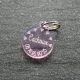 Médaille ronde petits coeurs rose PM