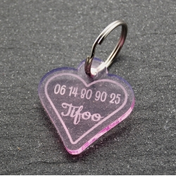 Médaille coeur rose GM
