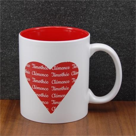 Mug céramique coeur