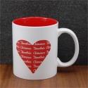 Mug céramique gravé coeur