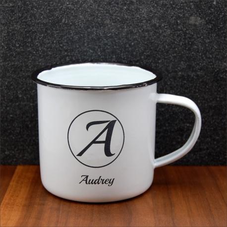 Mug vintage initiale & prénom