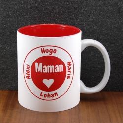 Mug céramique gravé maman coeur