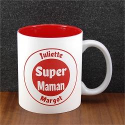 Mug céramique gravé super maman