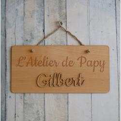 Pancarte l'atelier de papy