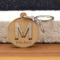 Porte clés initiale stencil