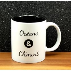 Mug céramique gravé duo noir