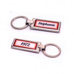 Porte clés prénom et année de naissance