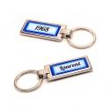 Porte clés prénom et date bleu