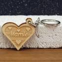 Porte clés forme de coeur mamie petits coeurs 2 faces