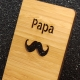 Support smartphone  moustache en bambou