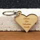 Porte clés forme de coeur maman petits coeurs 2 faces