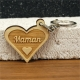 Porte clés forme de coeur maman coeur 2 faces