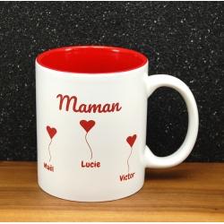 Mug céramique gravé maman petits coeurs