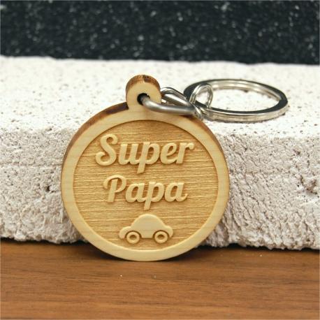 Porte clés super papa voiture