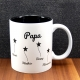 Mug céramique gravé papa petites étoiles