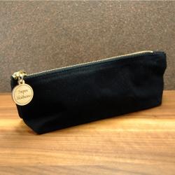 Trousse en coton noir zip super maîtresse