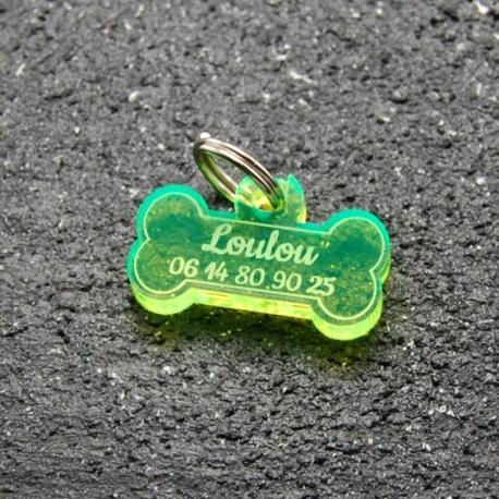 Médaille os PM fluo vert