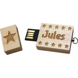 "Clés USB 8GO ""motif étoiles"""