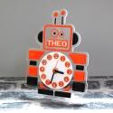 Pendule personnalisée robot orange