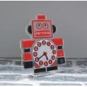Pendule personnalisée robot rouge