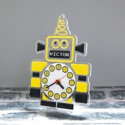 "Pendule ""robot jaune"""