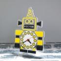 Pendule personnalisée robot jaune