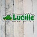 Plaque de porte prénom tortue