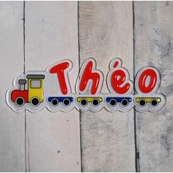 Plaque de porte prénom petit train