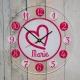 Pendule personnalisée coeur