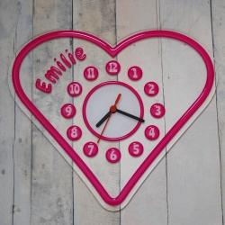 Pendule forme coeur