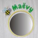 Miroir personnalisé abeille