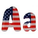 Lettre drapeau américain chela one