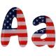 Lettre drapeau américain chewy