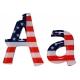 Lettre drapeau américain bubblegum