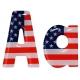 Lettre drapeau américain ranchers