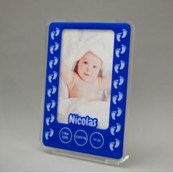 Cadre photo naissance empreintes personnalisable
