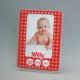 Cadre photo naissance rouges personnalisé