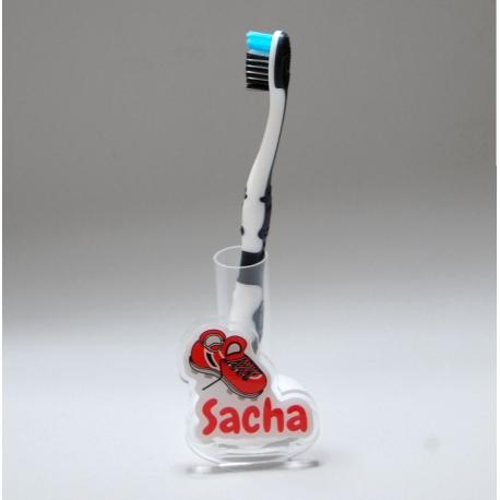 Support brosse à dents foot