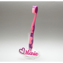 Support  brosse à dents coeur